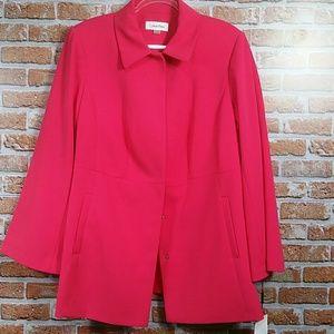 Calvin Klein lip suit coat